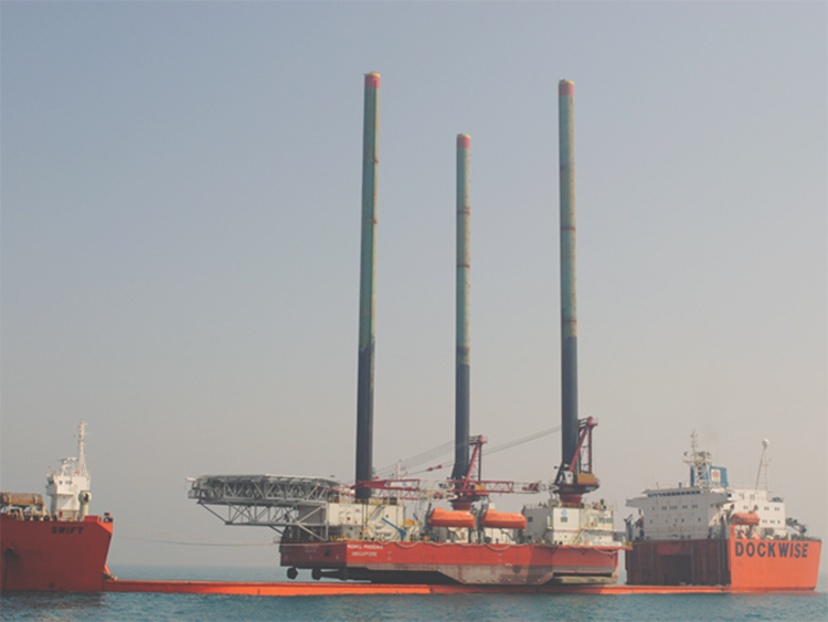 320E operates on an offshore platform off the west coast of Africa